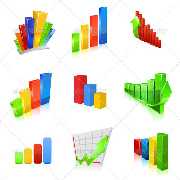 GraphicRiver Business Graph Icon Set 6859267
