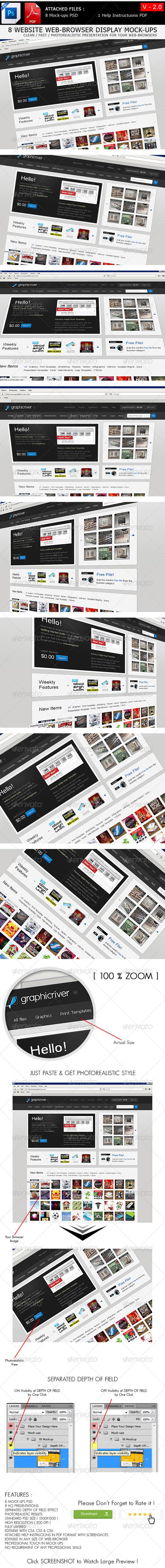 GraphicRiver Website Browser Display Mock-ups V 2.0 6859289
