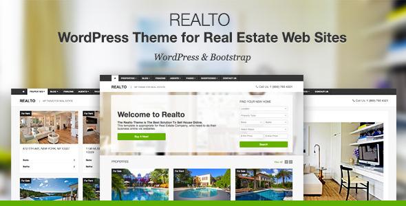 ThemeForest Realto WordPress Theme for Real Estate Companies 6801549