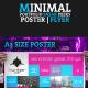 Minimal Portfolio Sneak Peeks Poster / Flyer - GraphicRiver Item for Sale