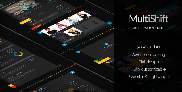 ThemeForest MultiShift Multiuser vCard & Blog 6859412