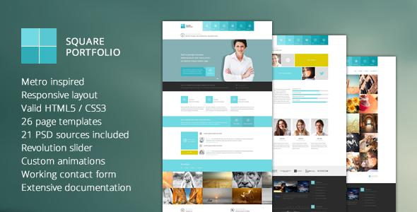 Square Portfolio - Responsive HTML Template