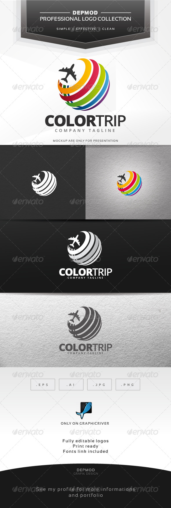 GraphicRiver Color Trip Logo 6859515