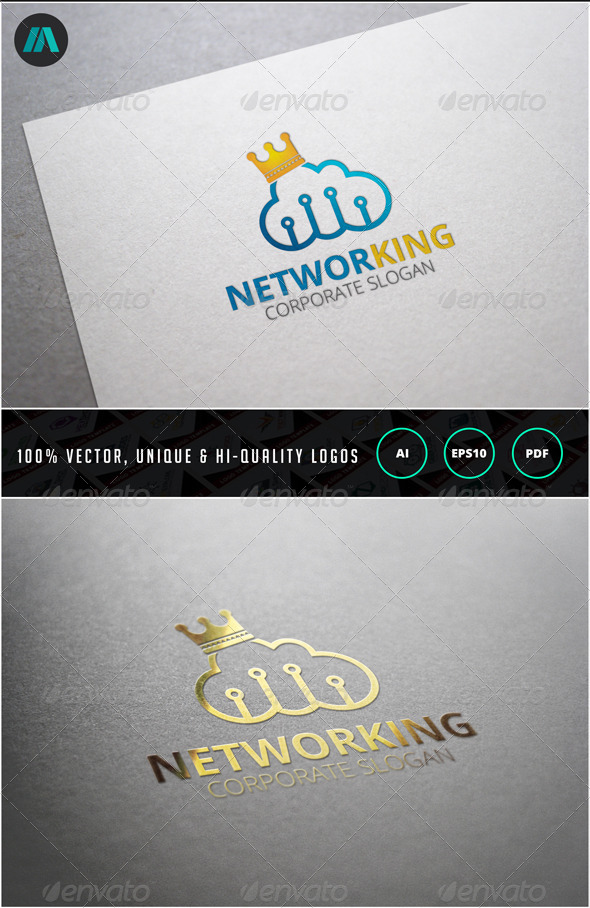 GraphicRiver Networking Logo Template 6859516