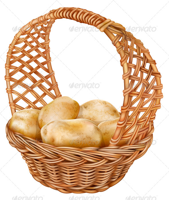 GraphicRiver Potatoes in a Wicker Basket 6859539
