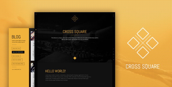 CrossSquare - One Page Bootstrap PSD Template