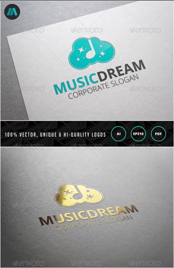 GraphicRiver Music Dream Logo Template 6859619