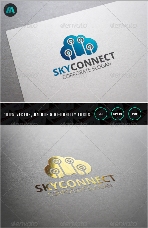 GraphicRiver Sky Connect Logo Template 6859651
