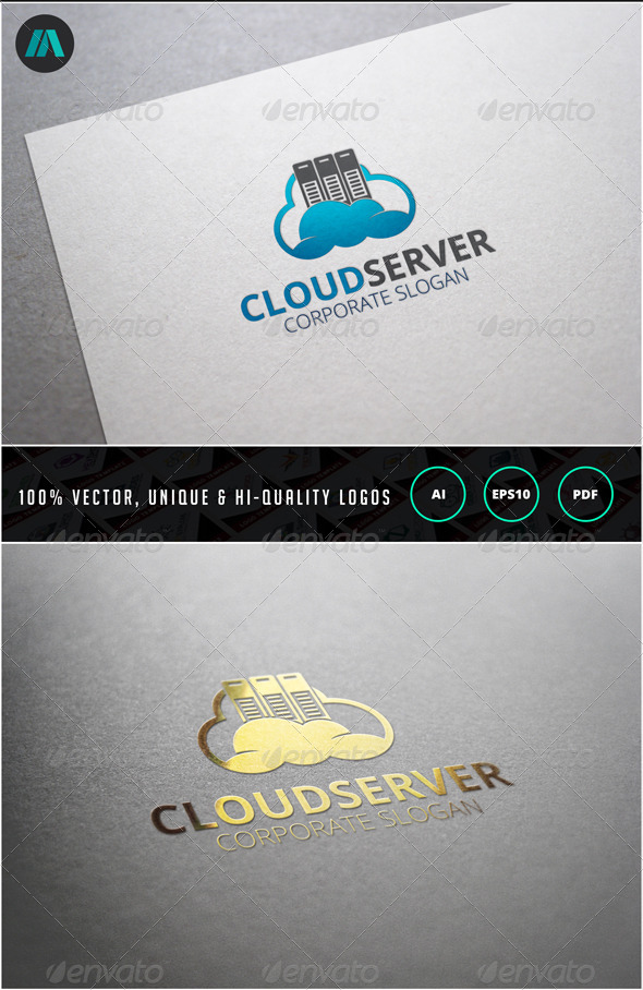 GraphicRiver Cloud Server Logo Template 6859714