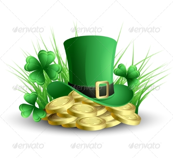 GraphicRiver Vector Illustration St Patrick s Background 6859717
