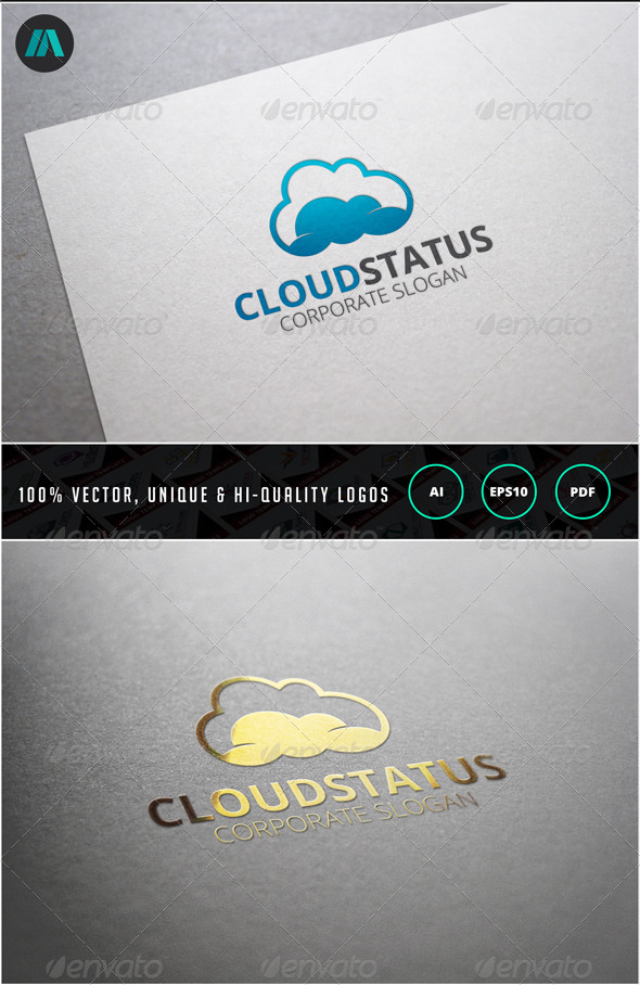 Cloud Status Logo Template - Nature Logo Templates