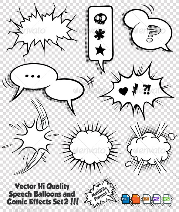 GraphicRiver Comic Bubbles and Elements Set 2 6851009