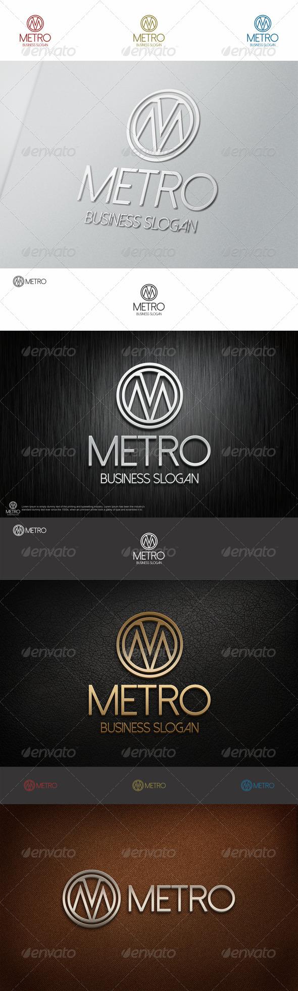 GraphicRiver Metro Logo M Letter 6859934