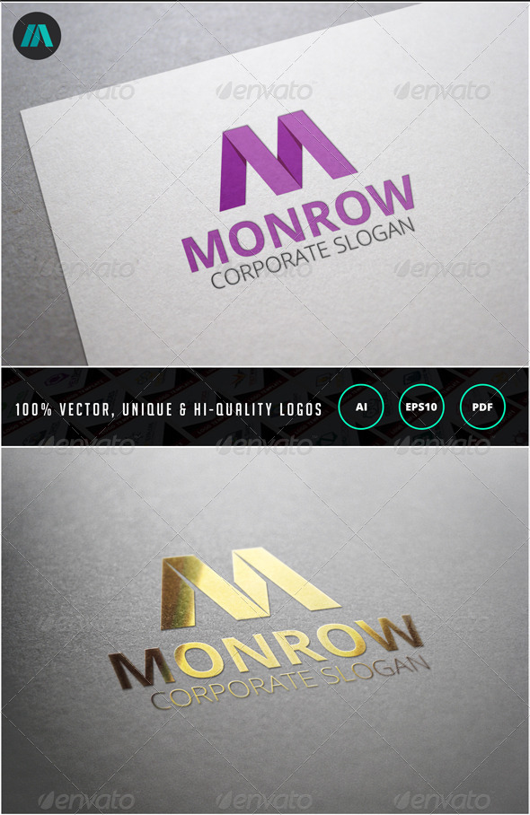 GraphicRiver Letter M Logo Template 6859941