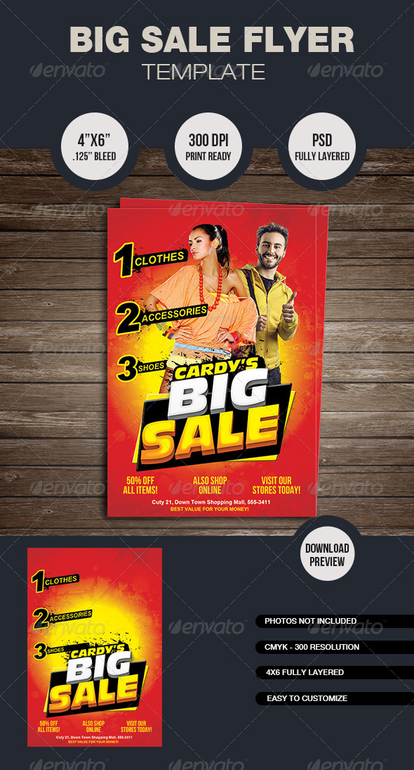 Big Sale Flyer Template - Commerce Flyers
