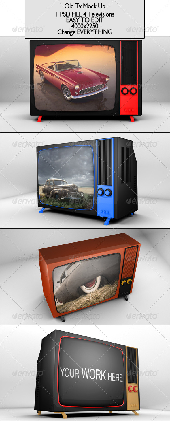 GraphicRiver Old Tv Mock Up 6859957