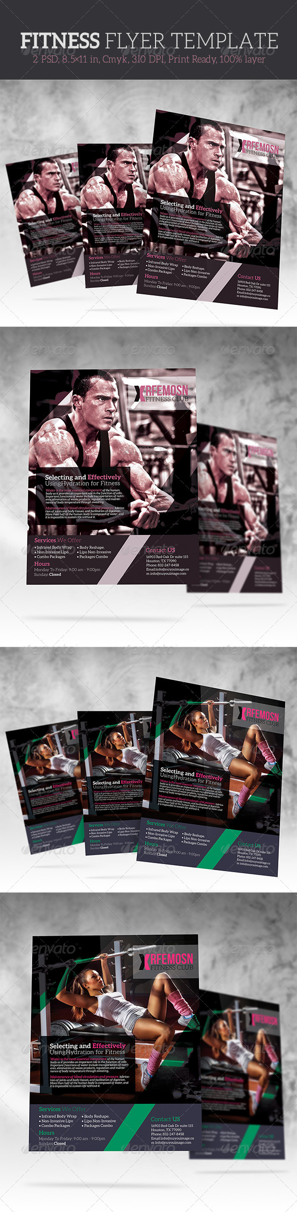 GraphicRiver Fitness Flyer Templates 6851822