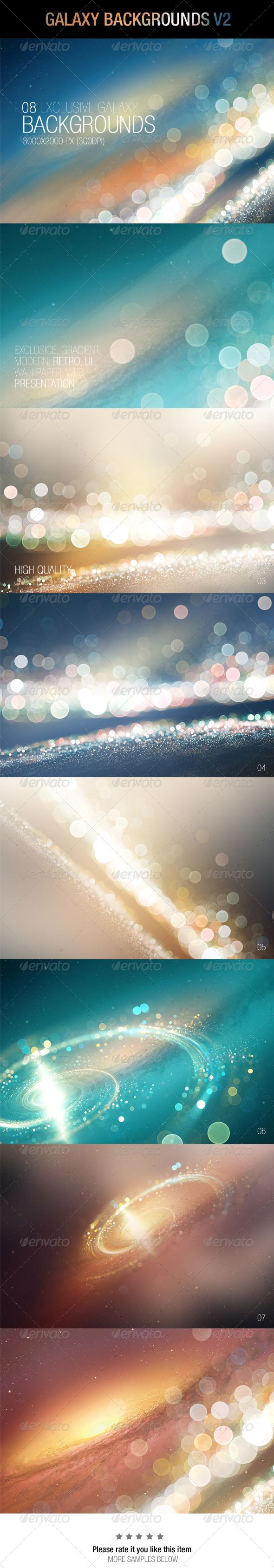 GraphicRiver Galaxy Backgrounds V2 6859974