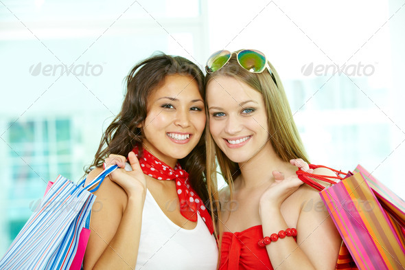 Two shoppers - Stock Photo - Images