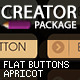 Apricot Flat Style Button Creation Kit - GraphicRiver Item for Sale