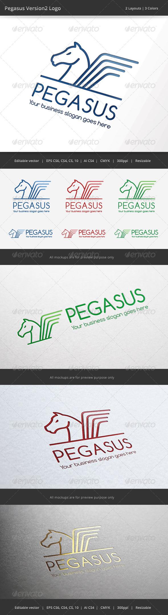 GraphicRiver Pegasus V2 Logo 6860142
