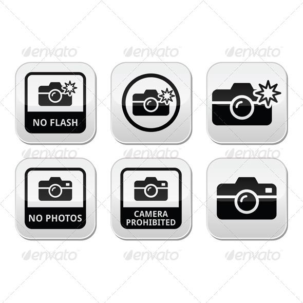 No Photos Cameras or Flash Buttons