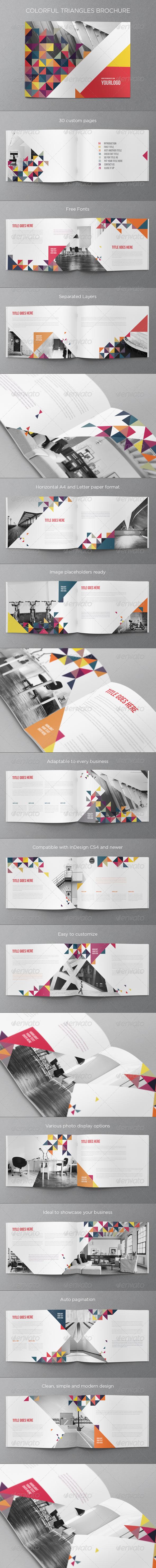 GraphicRiver Colorful Triangles Brochure 6860256