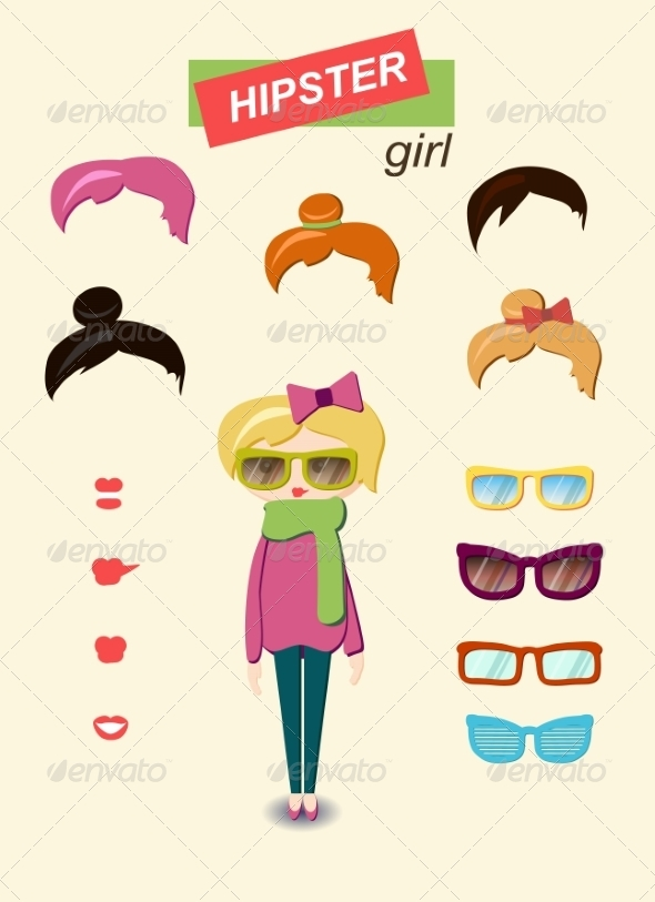 GraphicRiver Girl Kit 6860317