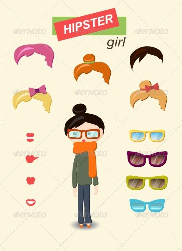 GraphicRiver Girl Kit 6860322