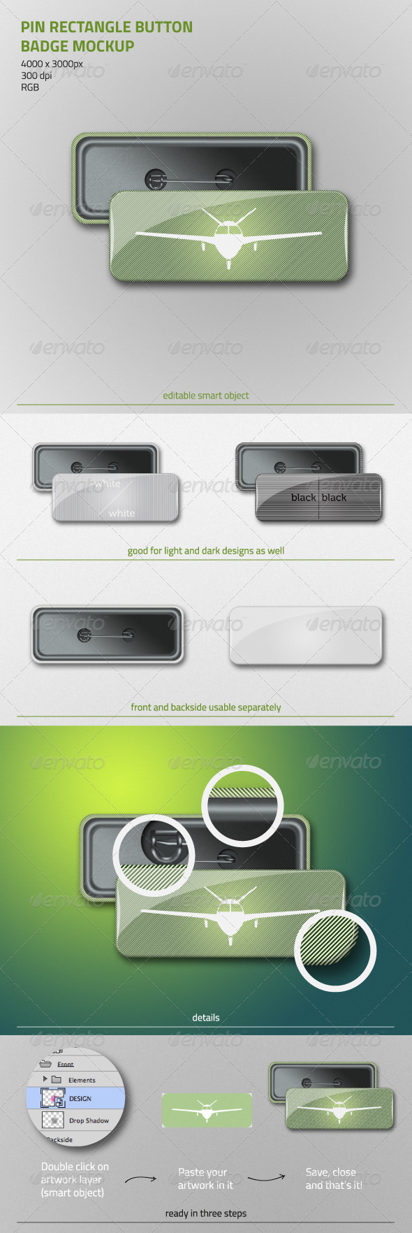 GraphicRiver Pin Rectangle Button Badge Mockup 6822572
