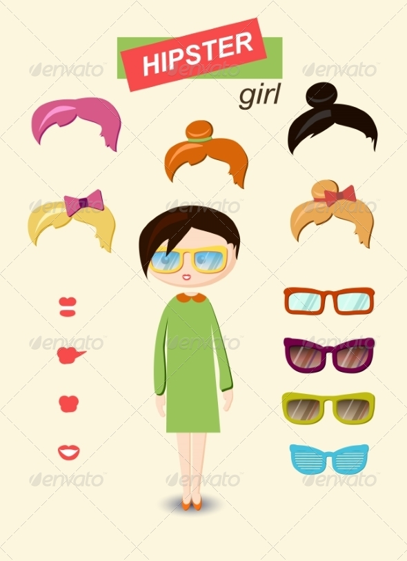 GraphicRiver Girl Kit 6860328