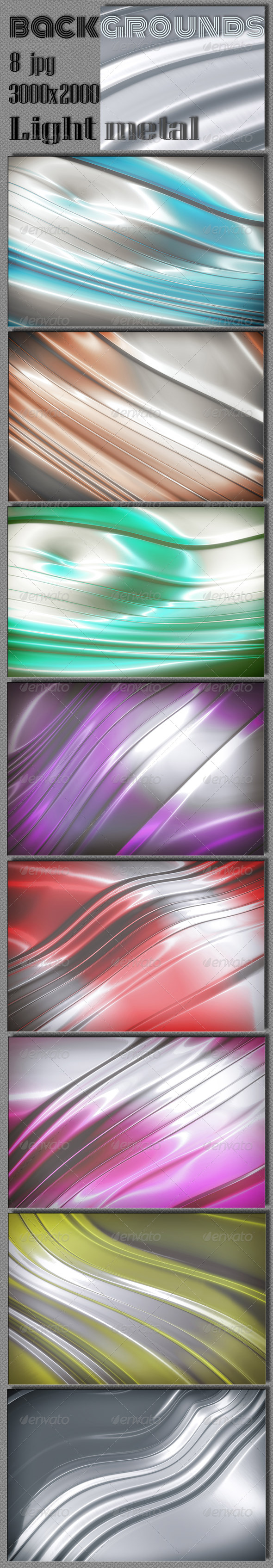 GraphicRiver Light Metal Multi-Colour Backgrounds 6860351