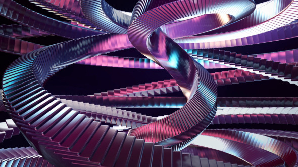 Abstract Metallic Magic Spiral