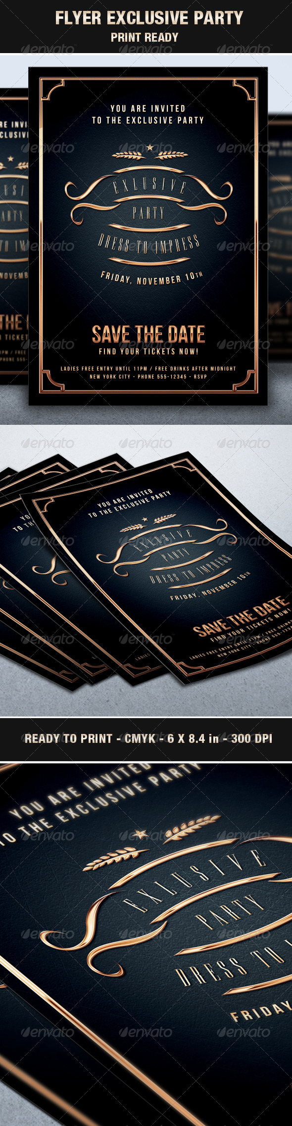 GraphicRiver Flyer Exclusive & Elegant Party Vip Style 6860529