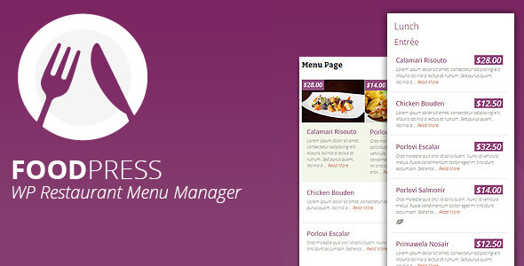 foodpress - Restaurant Menu Management WP Plugin - CodeCanyon Item for Sale