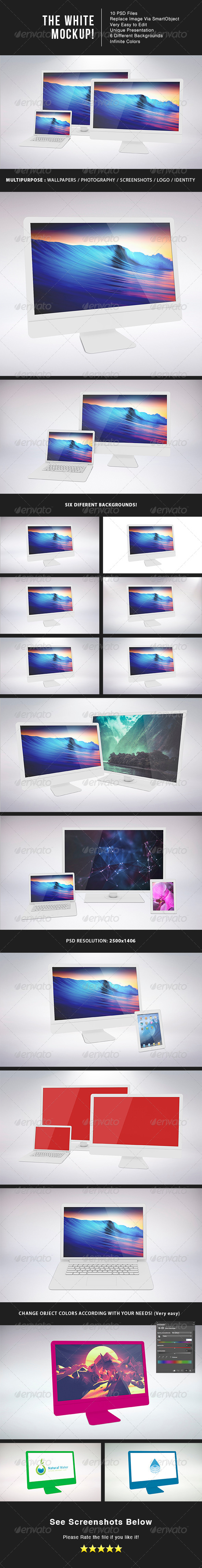 GraphicRiver The White MockUp 6854673