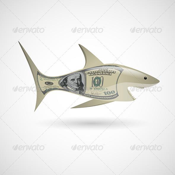 GraphicRiver Dollar Shark 6862579