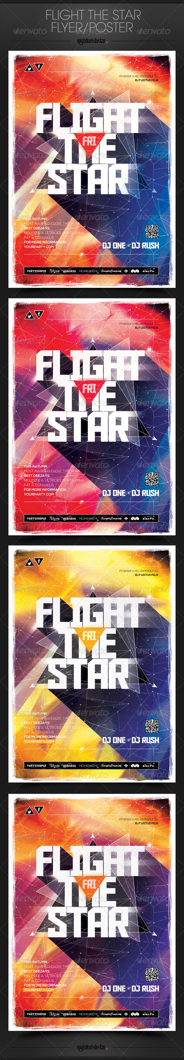 GraphicRiver Flight Star Party Poster Flyer 6862586