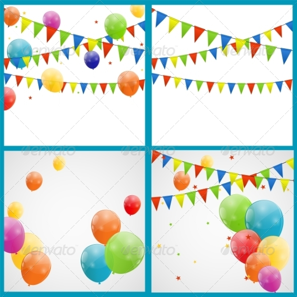 GraphicRiver Color Glossy Balloon Backgrounds 6862634