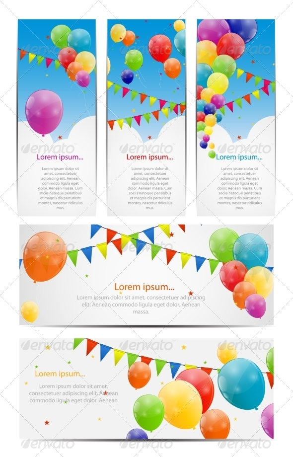 GraphicRiver Color Glossy Balloon Backgrounds 6862648