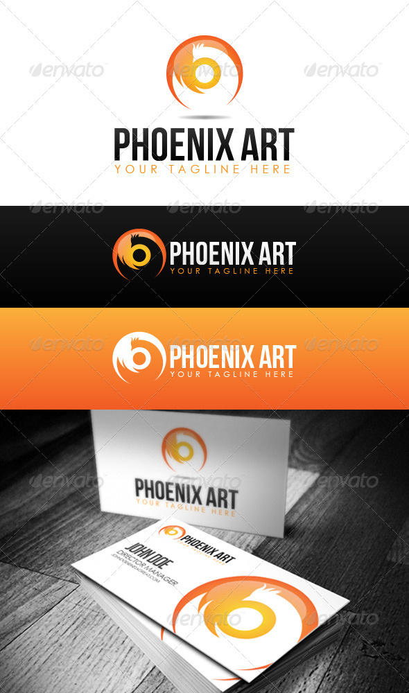 GraphicRiver Phoenix Art Logo 6862724