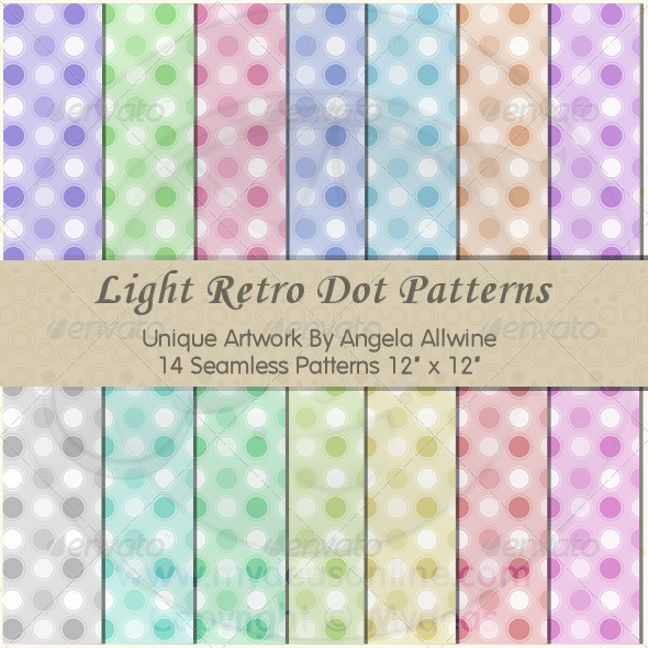 GraphicRiver Light Retro Dots Pattern Set 6862743