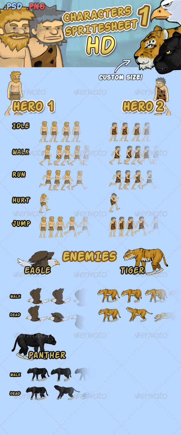 GraphicRiver Character Spritesheet 1 HD 6862753