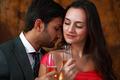 Couple wine romance