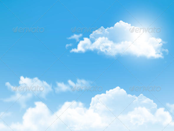 GraphicRiver Blue Sky with Clouds Background 6862933