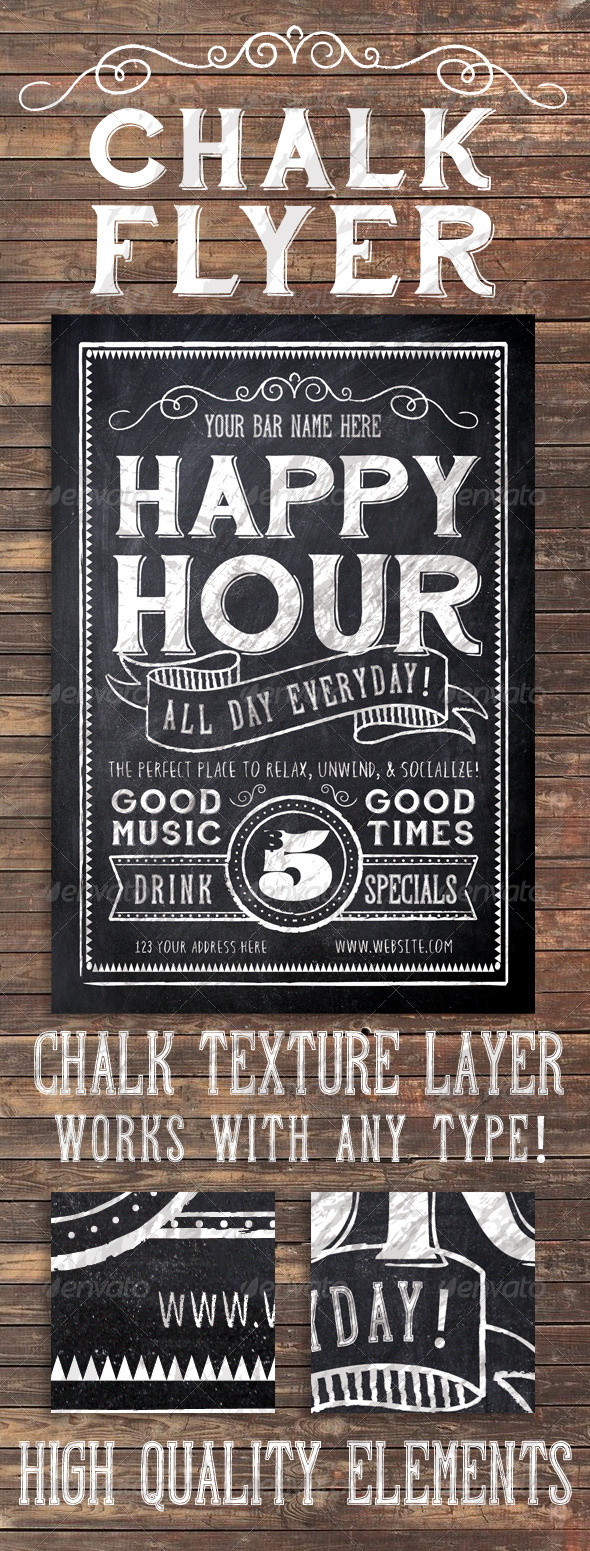 GraphicRiver Chalk Flyer 6863023