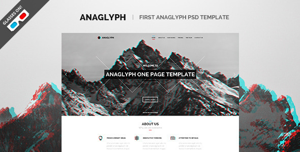 ThemeForest Anaglyph PSD Template 6863091