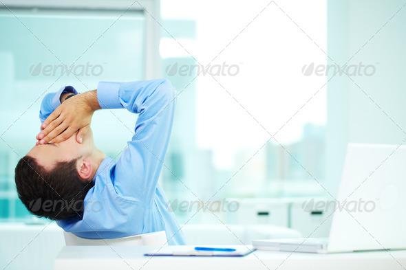 Sleepy man - Stock Photo - Images