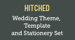 Hitched — Wedding Theme, Template and Stationery Set