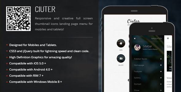 CodeCanyon Ciuter Creative Navigation for Mobile & Tablets 6863459